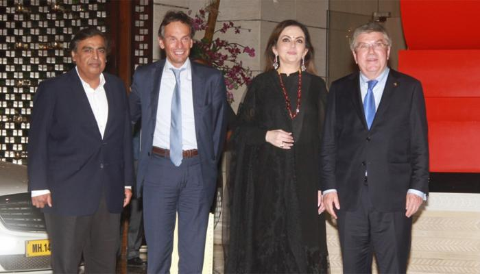 IOC member Nita Ambani hosted dinner in Mumbai, Ratan Tata, Sachin, Aamir khan arrived