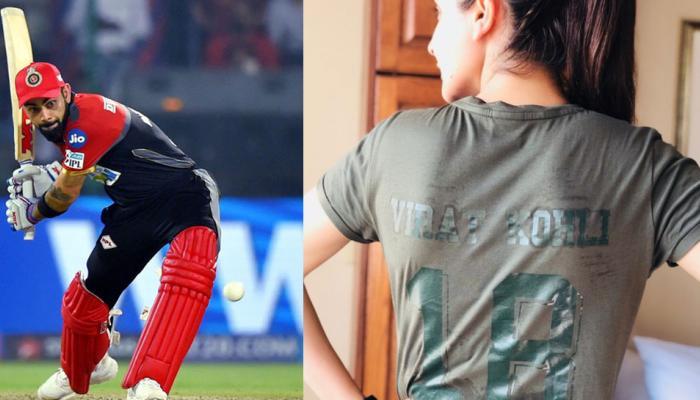 Anushka Sharma cheered Virat kohli in her style during record win of Bangaluru