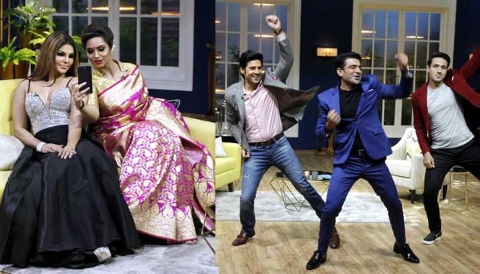 Rakhi Sawant Arshi Khan & Iqbal Khan, Eijaz Khan on Zee TV Show JuzzBaatt