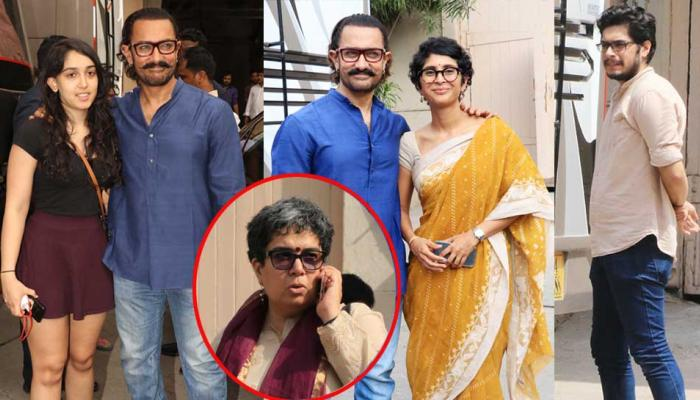 PICS: Aamir Khan spotted with son Junaid and daughter Ira along with Kiran Rao