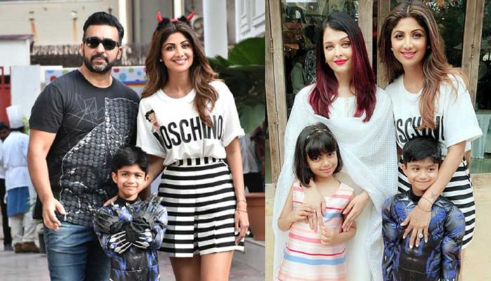 Aishwarya Rai Bachchan with Daughter attends Shilpa Shetty's son's birthday Party