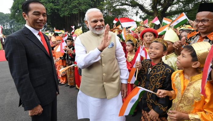 pm narendra modi visit to the Istiqlal Mosque in Jakarta Indonesia