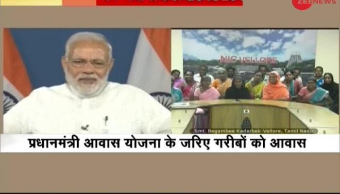 Watch what PM Modi said to beneficiaries of Pradhan Mantri Awas Yojana
