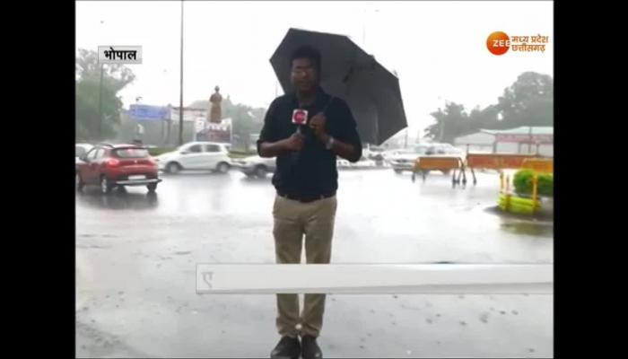VIDEO: Monsoon knock in Bhopal, weather is pleasant with light rain