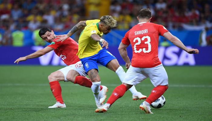 Brazil's Neymar was fouled more than any other player at the World Cup in 20 years