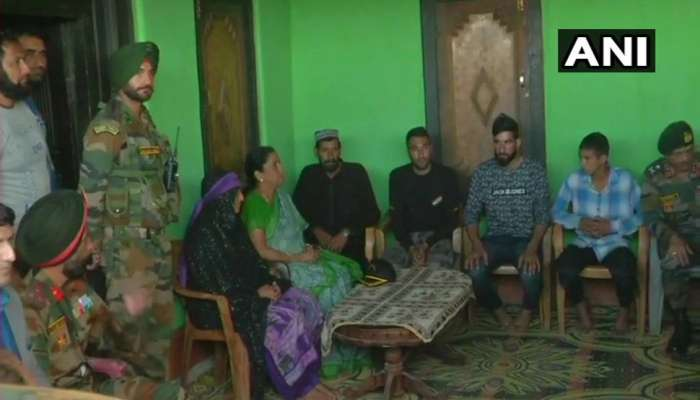 Nirmala Sitharaman meets family of Sepoy Aurangzeb in Jammu kashmir