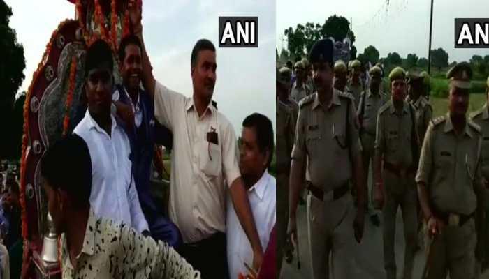 Dalit groom baraat in Kasganj Nizampur village under police protection