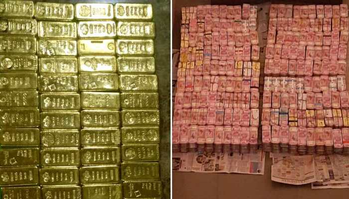 Gold biscuits and cash seized by Income Tax department from SPK company raid Tamilnadu