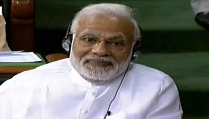 Narendra modi Smiling moments during No Confidence Motion in Lok sabha