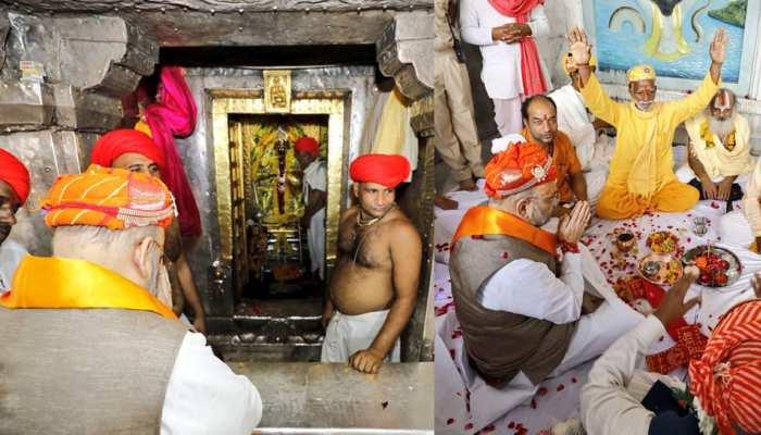 pics: amit shah give green signal to rajasthan gaurav yatra after praying in chaarbhuja temple