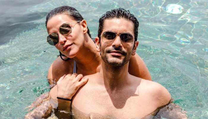 Neha Dhupia and Angad Bedi are celebrating honeymoon in Maldives pictures are getting viral