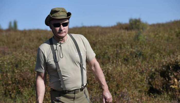 Russian President Vladimir Putin's Siberian hiking pictures going viral on social Media