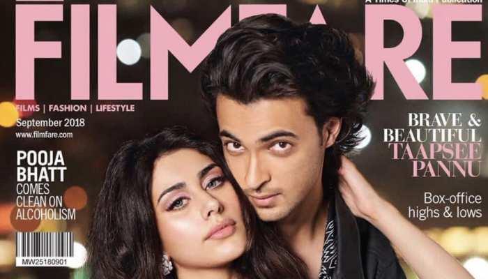 'लवरात्रि' से पहले फिल्मफेयर के कवर पर दिखे आयुष शर्मा और वरीना हुसैन, देखें PIC
