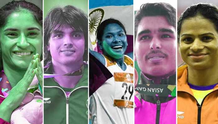 indian players who won gold medals in asian games 2018