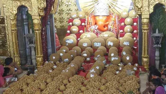 जयपुर के इस मंदिर में भगवान श्रीगणेश को लगा 21 क्विंटल लड्डुओं का भोग
