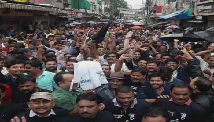 मप्र: भारत बंद रैली में भाजपा नेताओं के विरोध में दिखाए काले झंडे, 35 जिलों में हाई अलर्ट