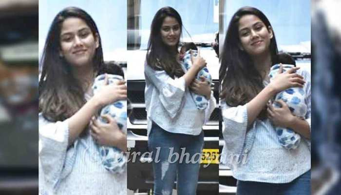 Shahid Kapoor and Mira Rajput spotted with new born son Zain outside hinduja hospital