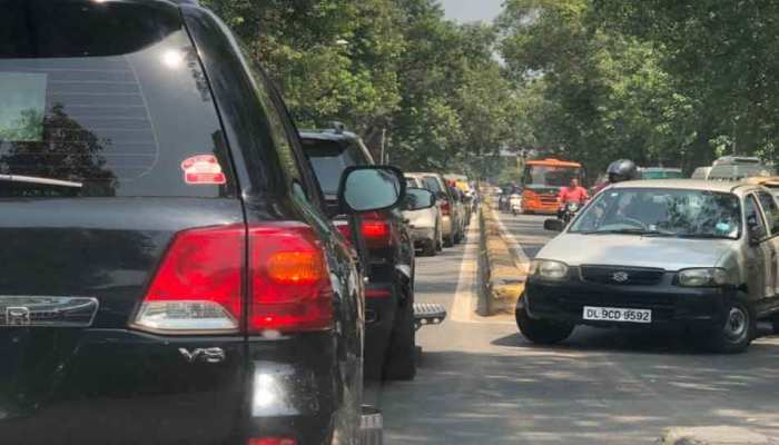 PM Modi's 's cavalcade en-route gets stuck in a traffic jam as no security route