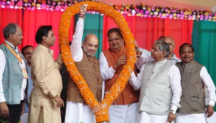 Photos of BJP president Amit Shah Raipur Visit