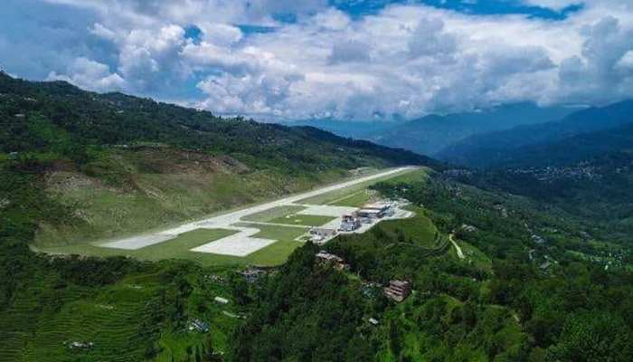 India's newest airport at Pakyong near Gangtok capital of Sikkim looks like this