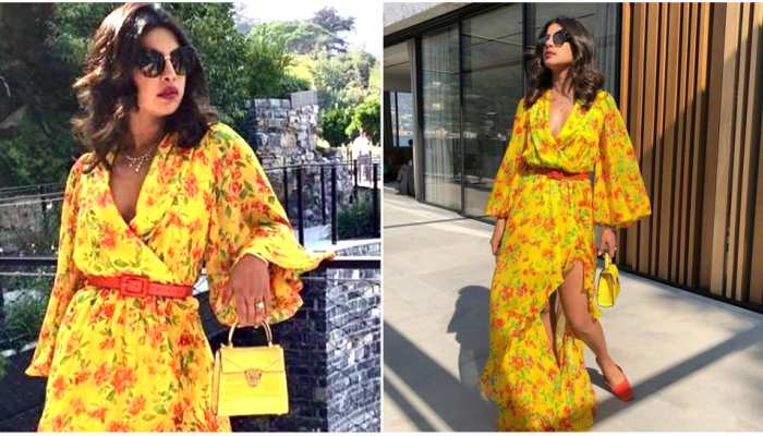 photos of Priyanka Chopra in yellow floral dress know the price bollywood