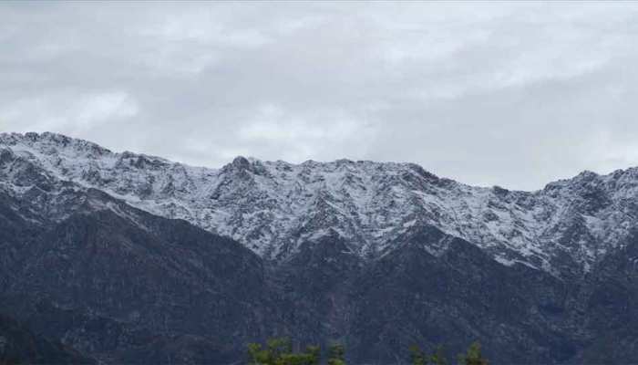 Himachal Pradesh: snow-clad Keylong in Lahaul-Spiti district