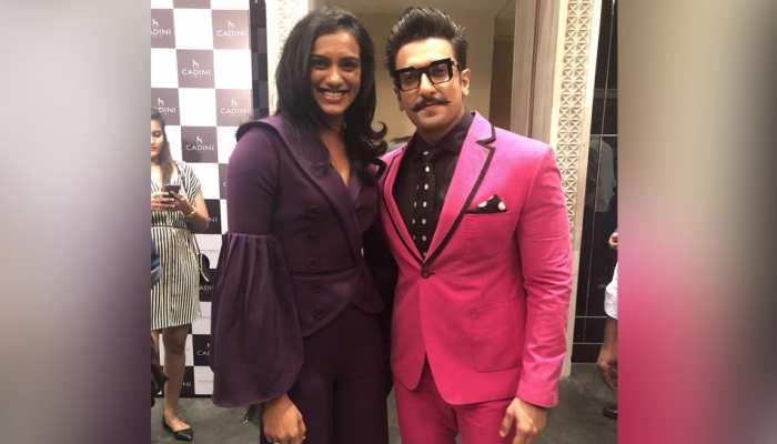 रणवीर सिंह से मुलाकात पर बोलीं पी.वी. सिंधु, यह मेरा 'फैन मूमेंट' है