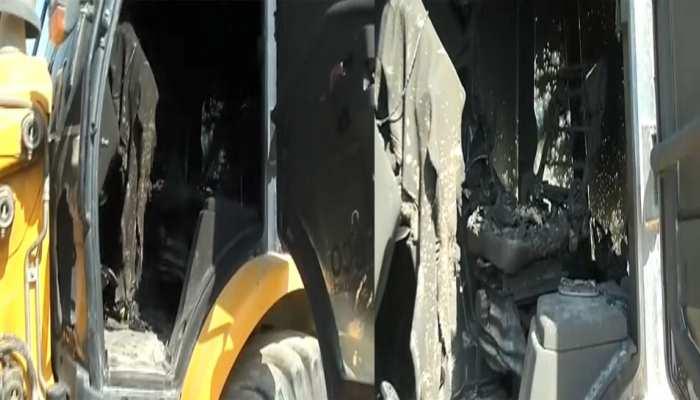 रांची में नक्सलियों ने मचाया तांडव, कंस्ट्रक्शन कंपनी के वाहनों को फूंका
