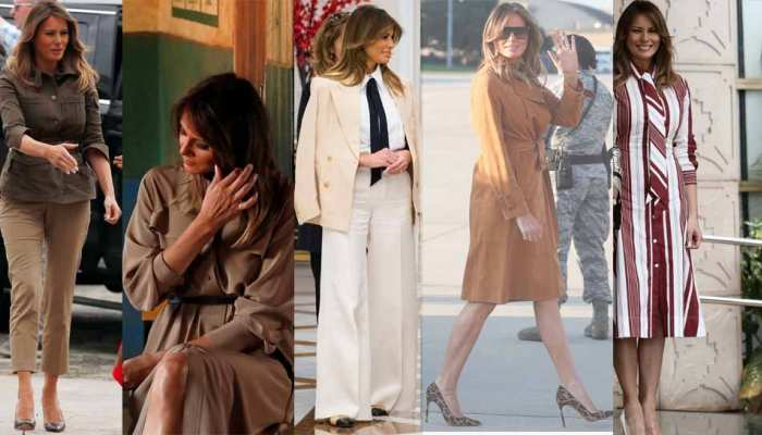 "Melania Trump in headlines becouse of dress, says ""focus on what I do, not what I wear"""