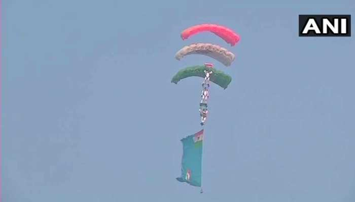 Indian Air Force Day celebrations underway at Hindon Air Force Station in Ghaziabad