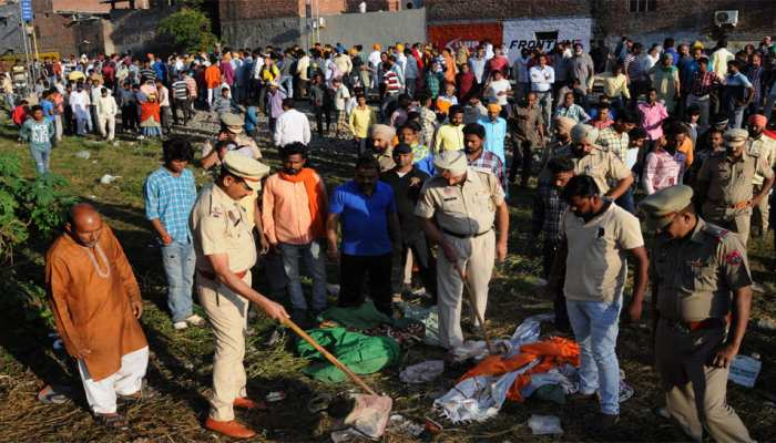 Amritsar rail accident: father found of son cut head photo on Whatsapp