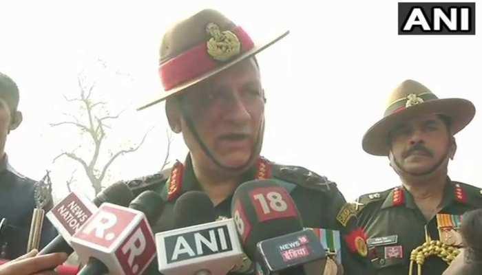 सेना प्रमुख ने पत्थरबाजों को बताया 'आतंकियों' जैसा, पाकिस्तान को दिया यह कड़ा संदेश