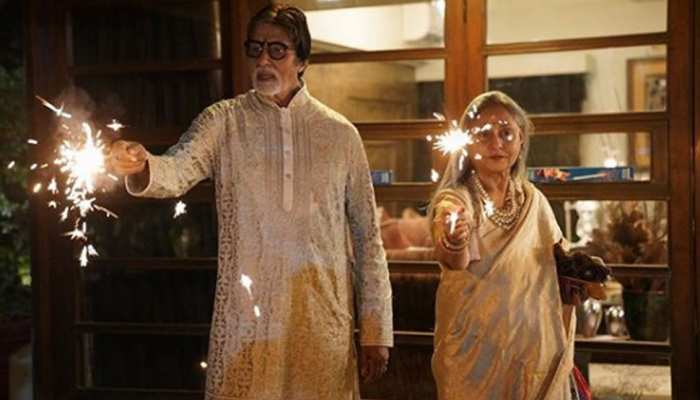 Amitabh bacchan Diwali celebration with jaya and abhishek