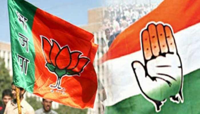 कांग्रेस कार्यकर्ताओं का हाईवोल्टेज ड्रामा, BJP प्रत्याशी पर लगाया शराब जमा करने का आरोप