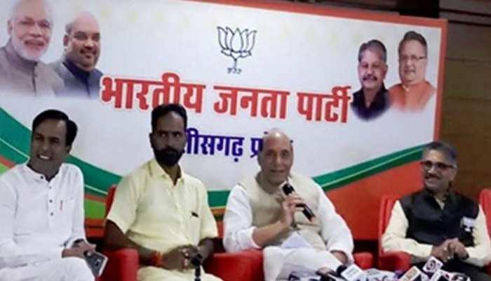 छत्तीसगढ़ चुनाव : गृहमंत्री राजनाथ सिंह बोले, 'देश जल्द नक्सलवाद से मुक्त होगा'