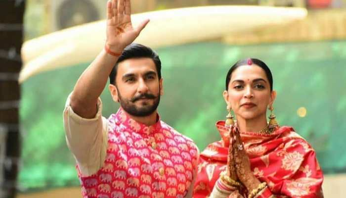 Photos of newly wed deepika padukone and Ranveer Singh returns Mumbai Bollywood