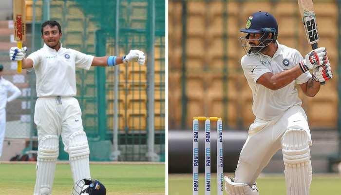 INDAvsNZA: न्यूजीलैंड ए के खिलाफ छाए बल्लेबाज, ड्रॉ मैच में शॉ-विहारी की डबल फिफ्टी