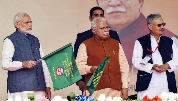 PM Modi inaugurates Ballabhgarh-Mujesar Metro rail link haryana