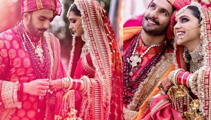 Photos: कोंकणी दीपिका पादुकोण पर चढ़ा रणवीर सिंह का सिंधी रंग, यूं बनीं खूबसूरत दुल्'€à¤¹à¤¨