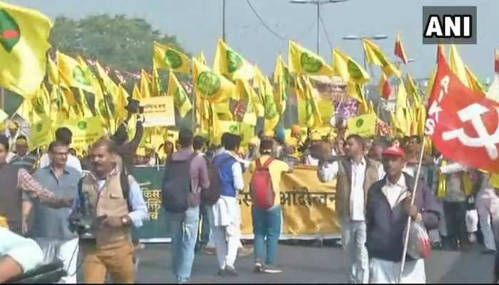 The group of farmers left for the parliament, see how was the seen