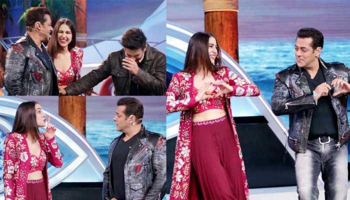 Sara Ali Khan and Sushant Singh Rajput meet Salman Khan at Bigg Boss 12 Weekend Ka Vaar