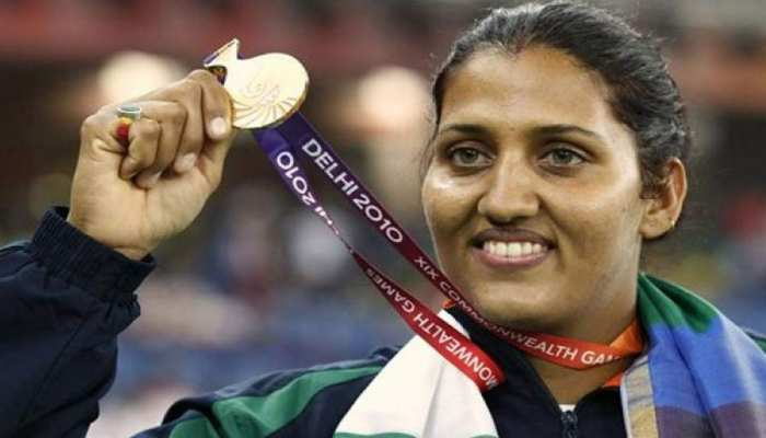 राजस्थान: 2010 कॉमनवेल्थ गेम्स में गोल्ड जीतने वाली कृष्णा पूनिया आगे
