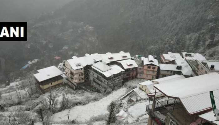 snow fall in high areas of uttrakhand, see these beautiful pics