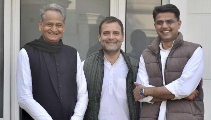 राहुल गांधी ने गहलोत और पायलट के साथ शेयर की तस्वीर, कहा- 'राजस्थान के संयुक्त रंग'