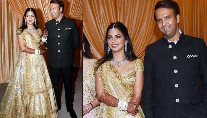 photos of isha ambani and anand piramal wedding reception mumbai