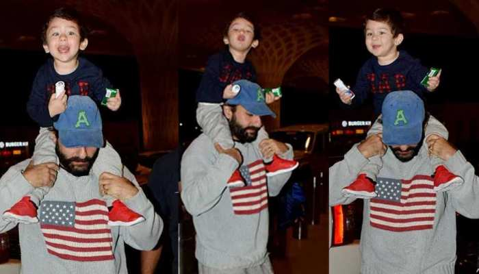 new airport photos of taimur ali khan goes viral on internet
