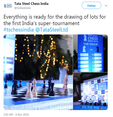 Announcing tweet by Tata Steel