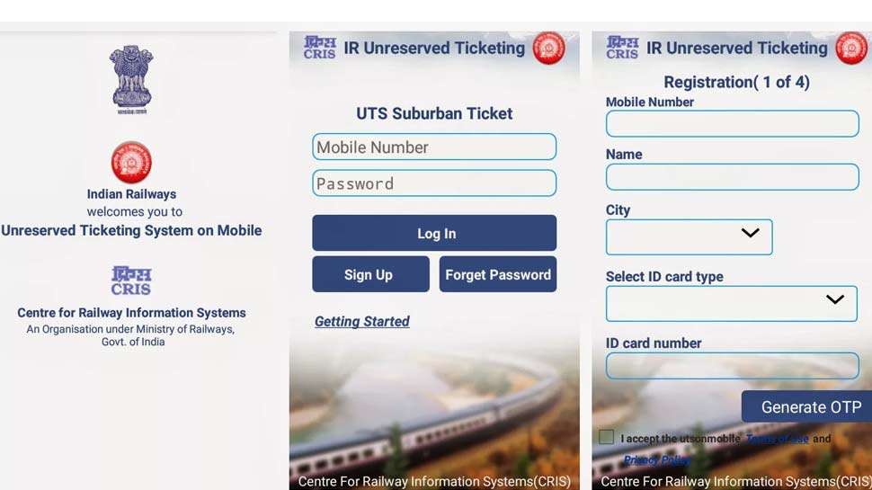 भारतीय रेलवे, Indian Railway, uts Ticketing Service, uts, uts mobile app