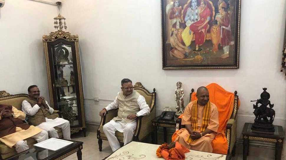 Yogi Adityanath reached Raipur said BJP will win by huge majority