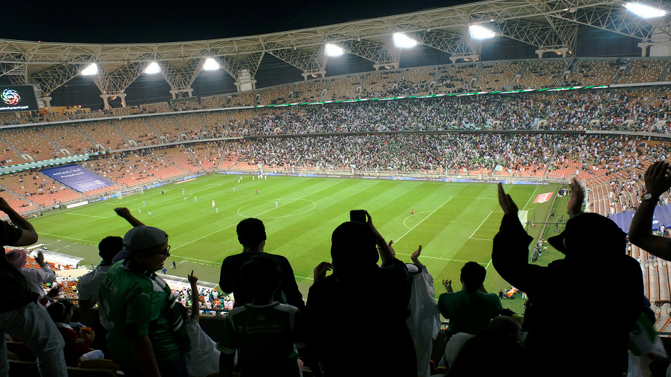 For the first time in Saudi Arabia women watched football match in stadium